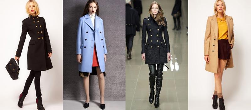 Модные женские пальто 2017: двубортные