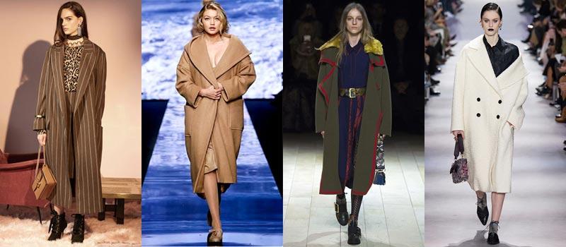 Модные женские пальто 2017: оверсайз