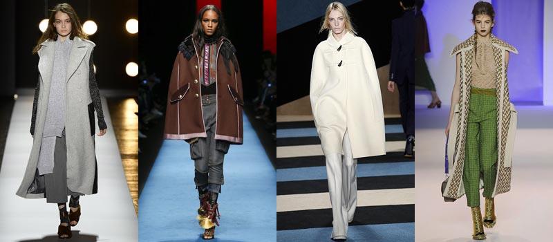 Модные женские пальто 2017: кейпы и накидки
