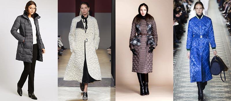 Модные женские пальто 2017: стеганые
