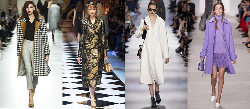 Модные женские пальто 2017: цвета и принты