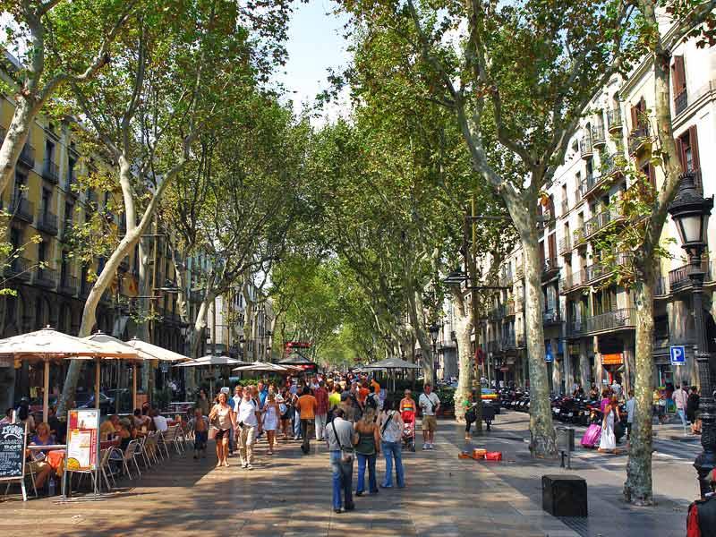Барселона. Улица Рамбла