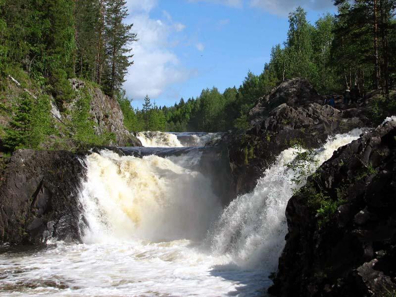 Карелия. Водопад Кивач