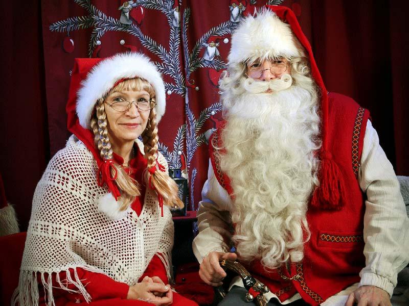 Дед Мороз в Финляндии: Йоулупукки вместе с женой Муори