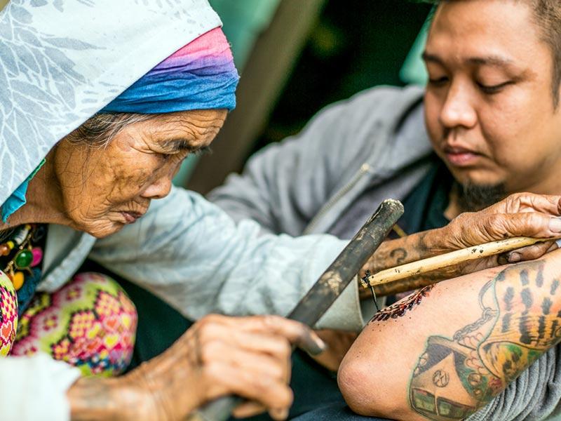 Необычные мастера тату: Ванг Од, Филиппины
