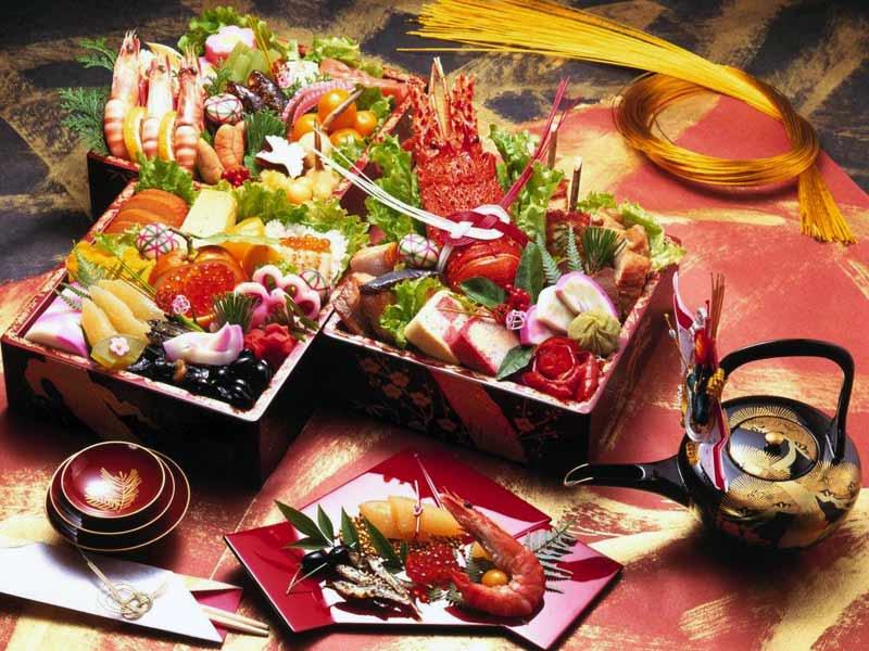 Новый год в Японии: новогодний стол