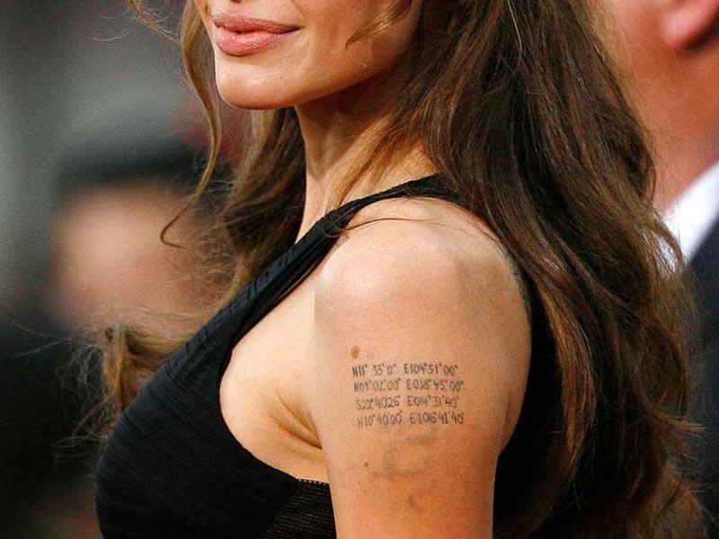 Самые ужасные тату: Анжелина Джоли